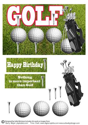 Golf Happy Birthday Nothing Is More Important Than