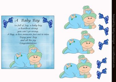A Baby Boy Poem 3d Card Cup17838049 Craftsuprint