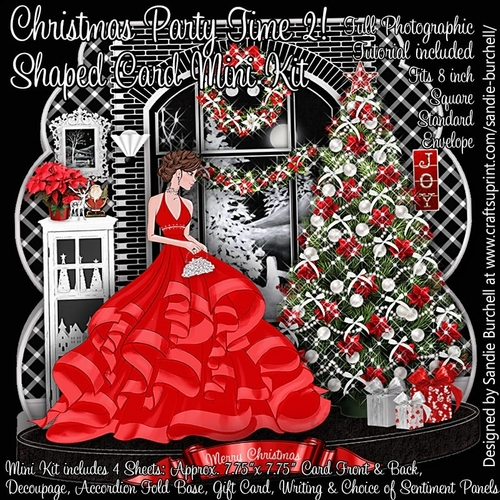 Christmas Party Time Images.Christmas Party Time 2 Shaped Card Mini Kit