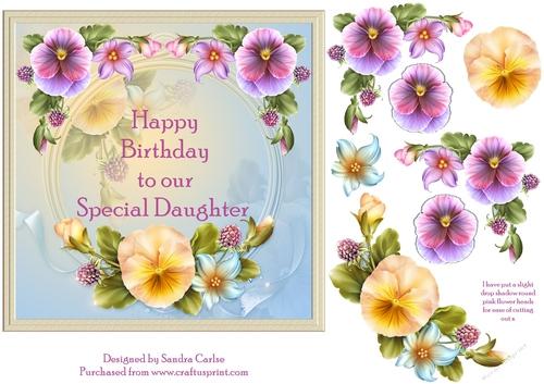 Happy Birthday Special Daughter Floral Topper 1