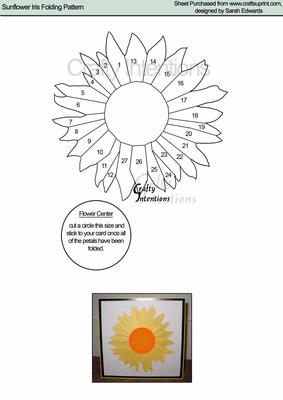 Sunflower Iris Folding Pattern