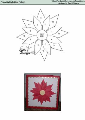 Christmas poinsettia flower iris folding pattern cup14192172 christmas poinsettia flower iris folding pattern cup14192172 craftsuprint pronofoot35fo Image collections