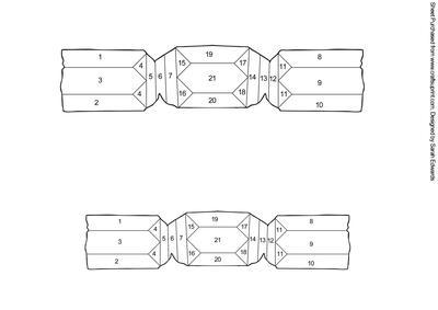 Christmas Cracker Template.Christmas Cracker Iris Folding Pattern