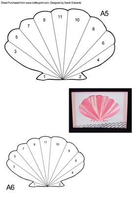 Sea Shell Iris Folding Pattern Cup211474 172 Craftsuprint