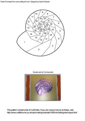 Ammonite Shell Iris Folding Pattern Cup254742 172