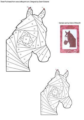 Horse Head Iris Folding Pattern Cup261276 172 Craftsuprint