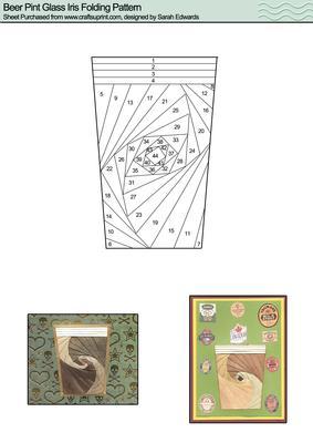 Beer Pint Glass Iris Folding Pattern Cup43671 172