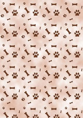Brown paw prints bones dog background cup52232172 craftsuprint voltagebd Gallery