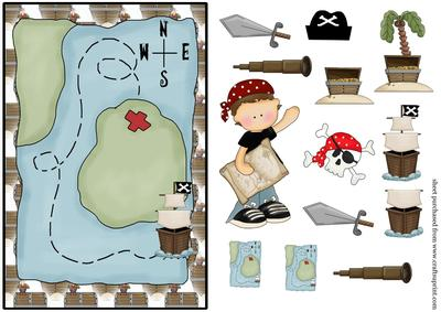 Pirate Birthday Card Front 1 CUP134525539 – Pirate Birthday Card