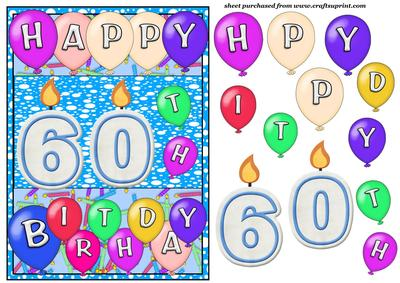 Male 60th Birthday Candles Card Front CUP176402539 – Free 60th Birthday Cards