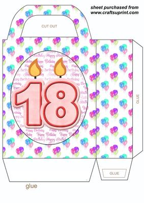 18th Birthday Candles Gift Bag