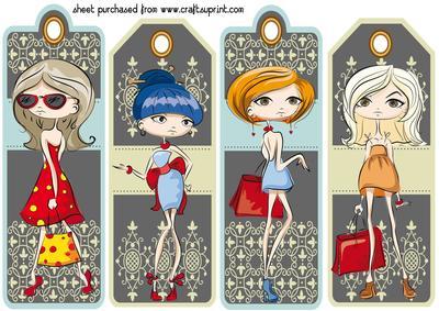 4 Fashion Girl Bookmarks 1 Cup599433 539 Craftsuprint