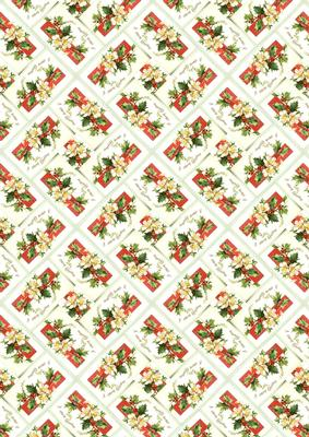 Christmas Roses Backing Paper Cup455548 66 Craftsuprint