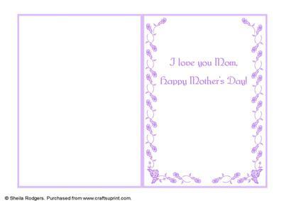 7x5 insert rosebud border love you mom mothers day cup607471 66 craftsuprint. Black Bedroom Furniture Sets. Home Design Ideas