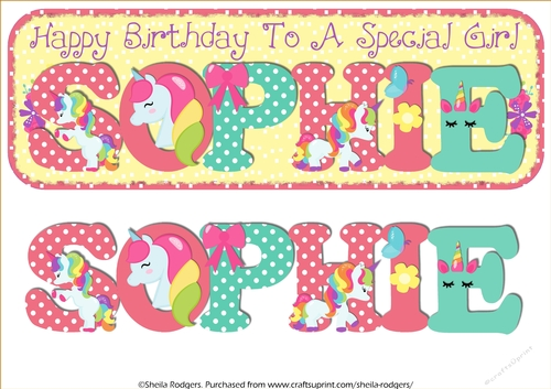 Birthday Candles Names