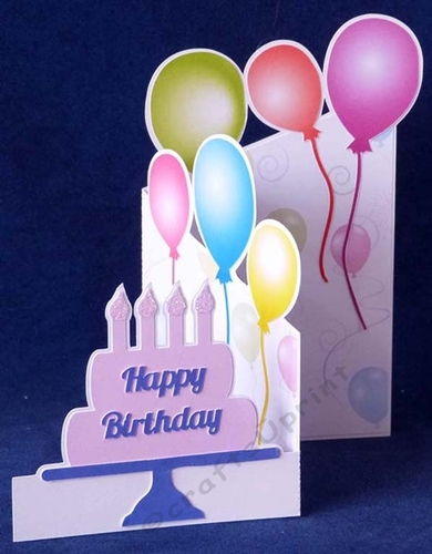 Birthday Cake Z Card And Balloon Paper