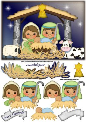 Cute Nativity With Animals Sbs Cup486805 262 Craftsuprint