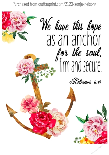 image relating to Printable Word Art identify Anchor Scripture Term Artwork Printable Wall Decor Print Made at 8x10 Hebrews 6:19