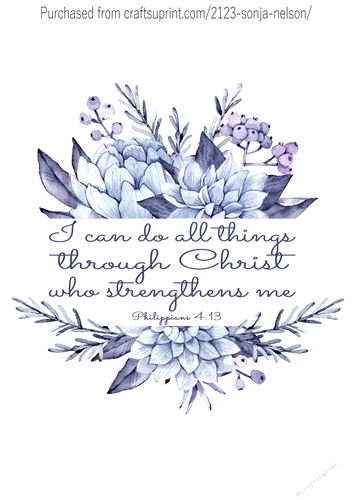 photograph about Printable Wall Decorations called Printable wall decor 8x10 I Can Do All the things christian term artwork watercolor print