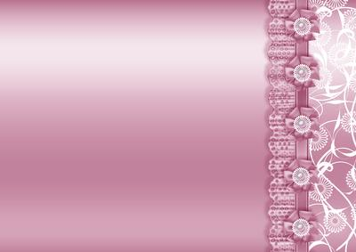 Pink Metallic With Lace Border Backing Paper