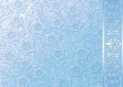 pale blue embossed floral with border background cup149283 422