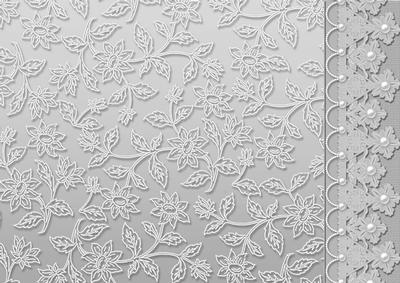 Silver Floral Lace With Lace And Pearls Border Cup167342
