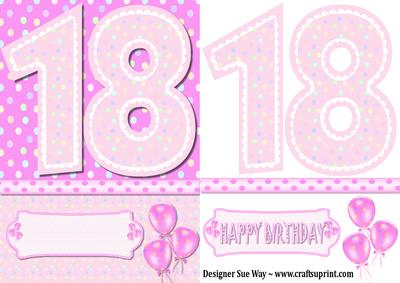 18th Birthday Girl Quick Card CUP22783138 – 18th Birthday Cards for Girls
