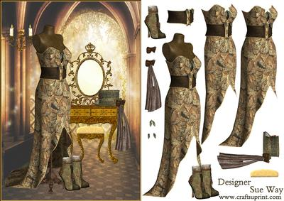 Steampunk Dressing Room Decoupage Cup415896 38