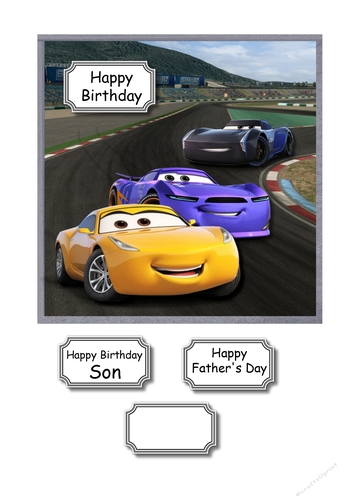 Disney Cars On Track For Birthday Or Fathers Day Cup874572 43516