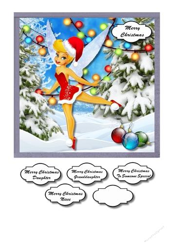 Christmas Tinkerbell.Tinkerbell Christmas