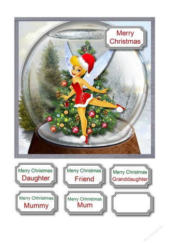 Christmas Tinkerbell.Tinkerbell Christmas Snow Globe