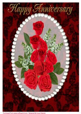 A4 Beautiful Red Rose Bouquet 4 - CUP326827_846   Craftsuprint