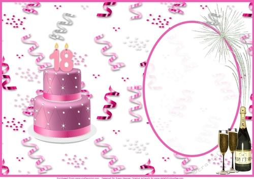 Happy 18th Birthday Celebration Insert