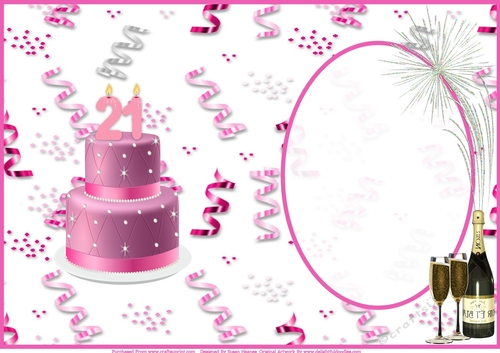 Marvelous Happy 21St Birthday Celebration Insert Cup907049 846 Craftsuprint Funny Birthday Cards Online Alyptdamsfinfo