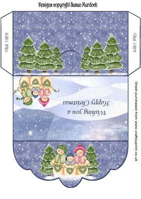 Gift Envelope/money Wallet - Snowmen - CUP153419_489 ...
