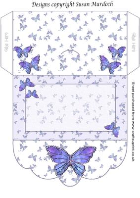 gift envelope money wallet butterflies cup164766 489 craftsuprint. Black Bedroom Furniture Sets. Home Design Ideas