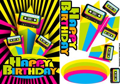 80s retro birthday greeting card cup436762 1446 craftsuprint