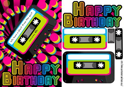 retro 80 s birthday greeting quick card cup436763 1446 craftsuprint