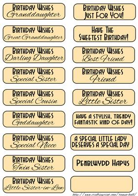 Birthday Sentiments to Match the Long Dl Card - CUP532800 ...