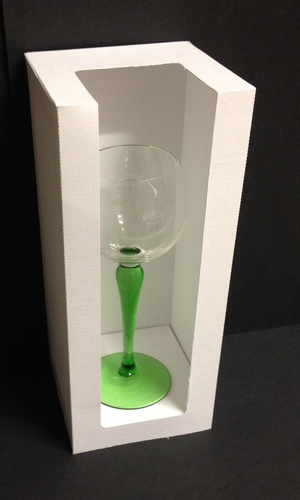 Tall Box With Aperture Also Ideal For Wine Glasses Flutes