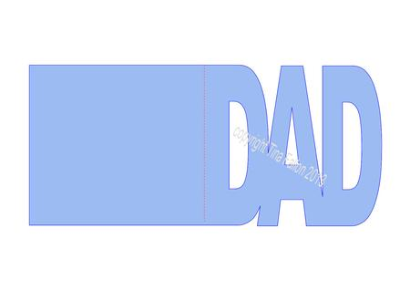 dad word folded card template file cup706028 1929 craftsuprint
