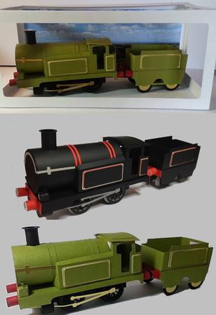 3D Model Train Engine With Coal Tender Track multi format