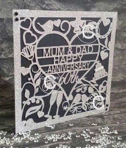 25th Wedding Anniversary Gifts For Mum And Dad: 60th Diamond Wedding Anniversary Card To Mum & Dad