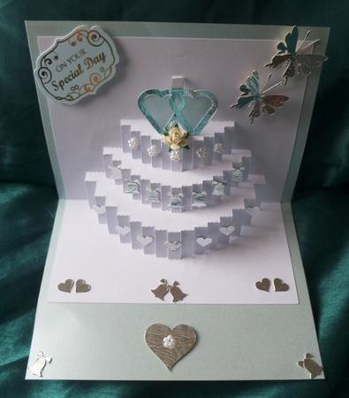3 Tier Wedding Cake Pop Up Insert Cup691888 596