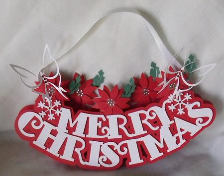 3d christmas door hanger cup692294 596 craftsuprint. Black Bedroom Furniture Sets. Home Design Ideas