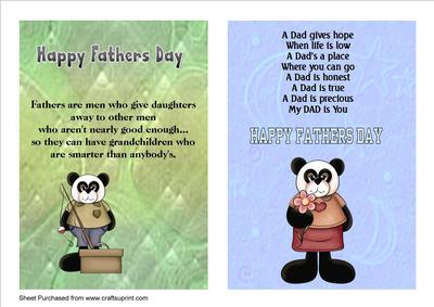 Two Fathers Day A5 Cards With Verses Cup212408 33