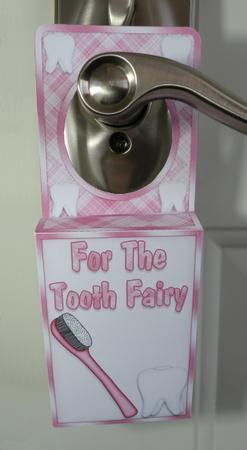 Pink Tooth Fairy Door Hanger Box Cup399917 1771