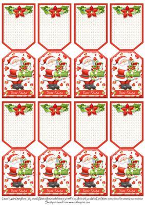 8 santa with gifts christmas folding gift tags dear santa