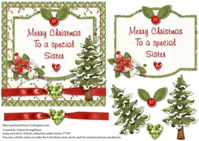 Merry Christmas Sister.Merry Christmas To A Special Sister Card Front