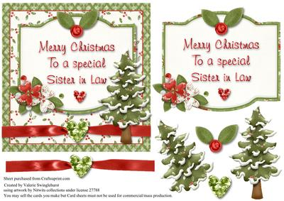 merry christmas to a special sister in law card front cup267063_880 craftsuprint - What To Get Sister In Law For Christmas